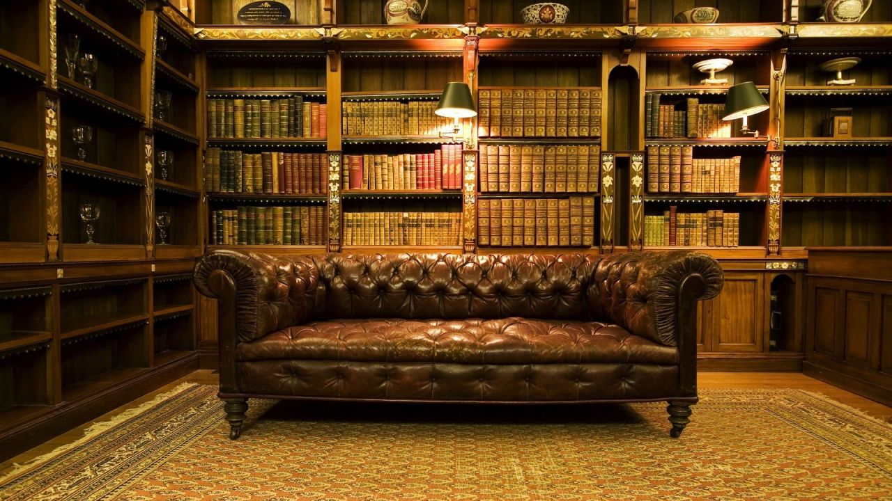 Turn Your Living Room Into A Vintage Library Hideaway