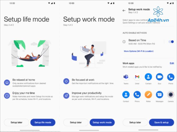 Thiết kế tích hợp gọn gàng trên Work-Life Balance 2.0