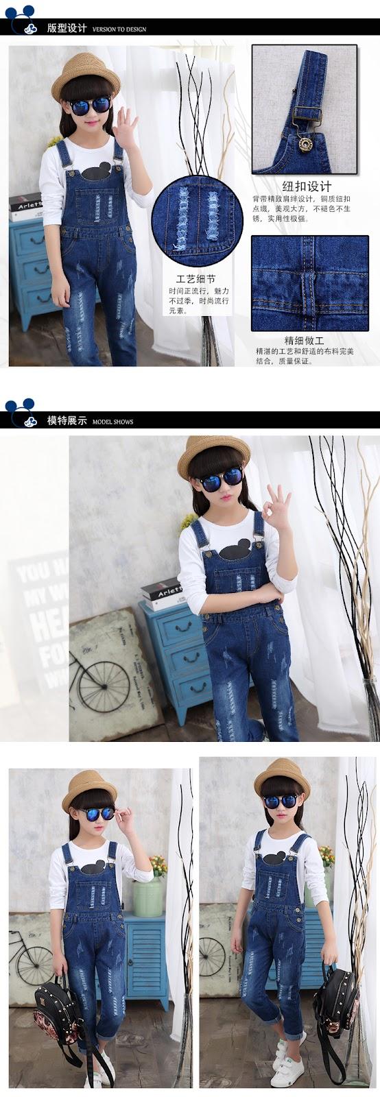 Spodnie ogrodniczki dla dziewczynek - spodnie z szelkami dla dziewczynek