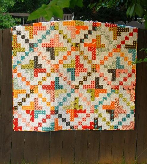 Irish Chain Quilt Made With Jelly Rolls