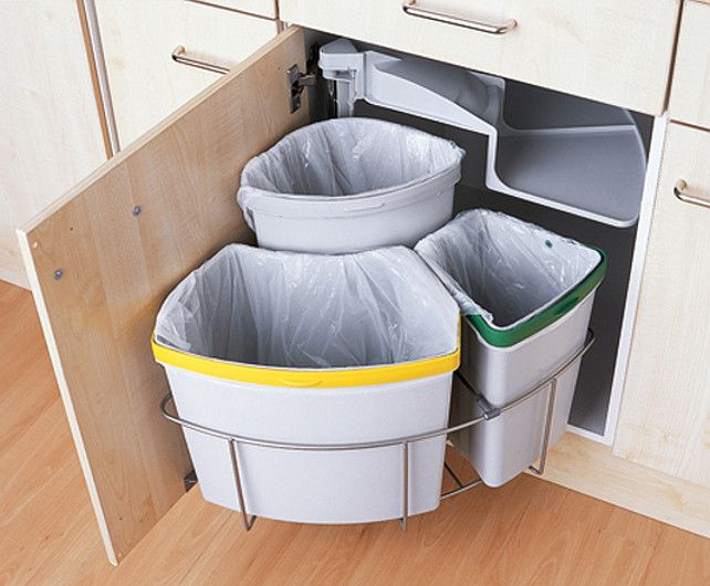 home recycling system for small kitchens
