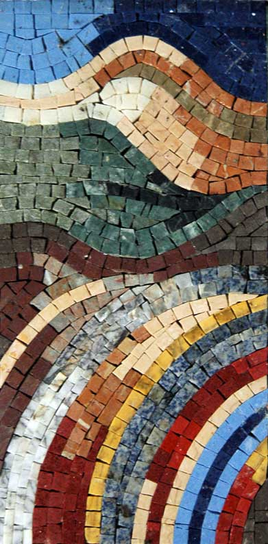 Color Strokes - Abstract Mosaic Design by Mozaico