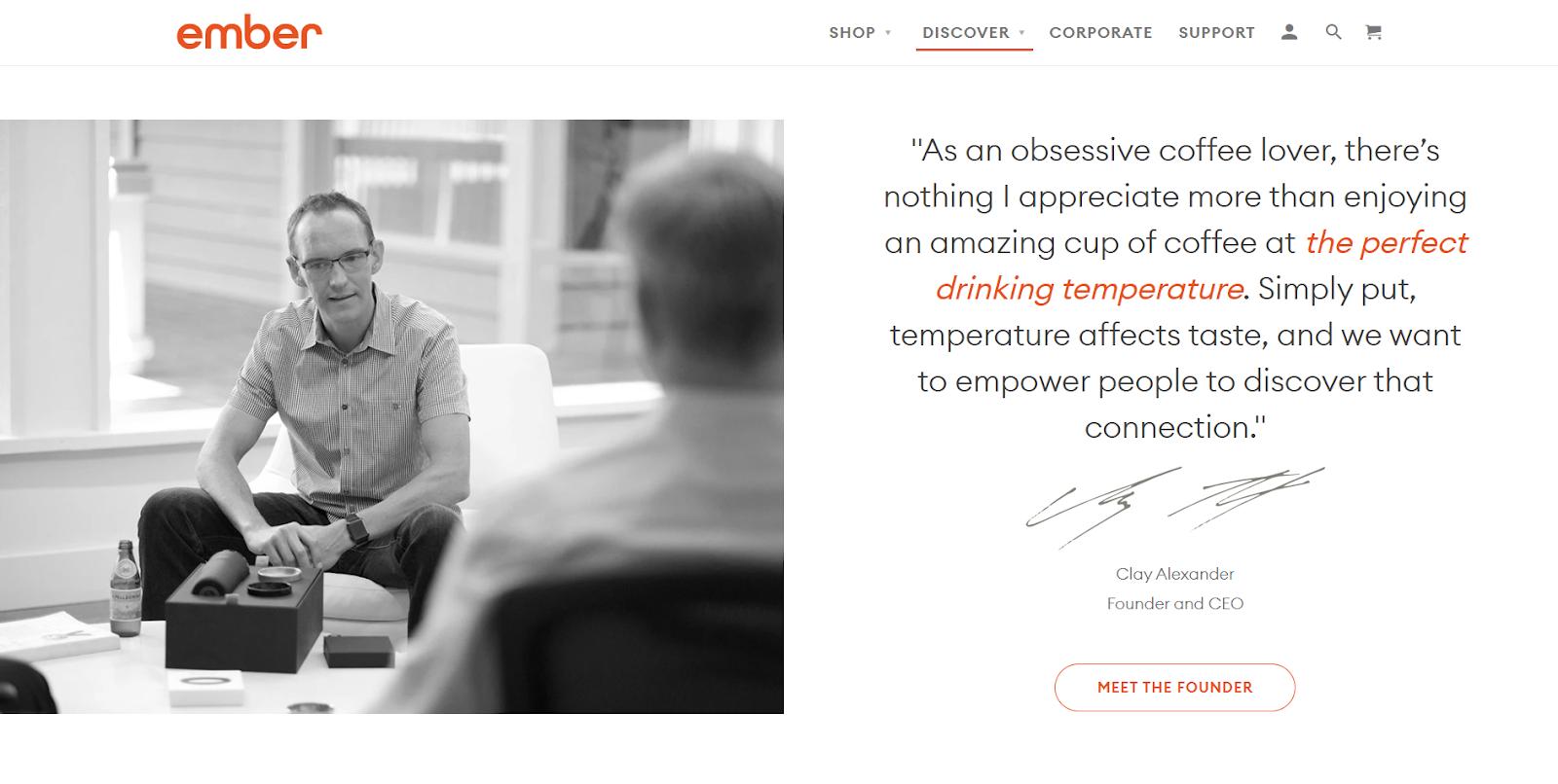 Personalization strategy - Ember personalized smart mug