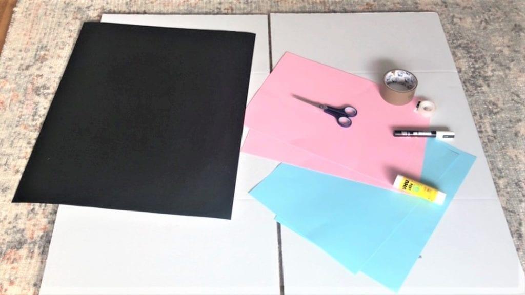 fazendo uma caixa de revelação de gênero DIY