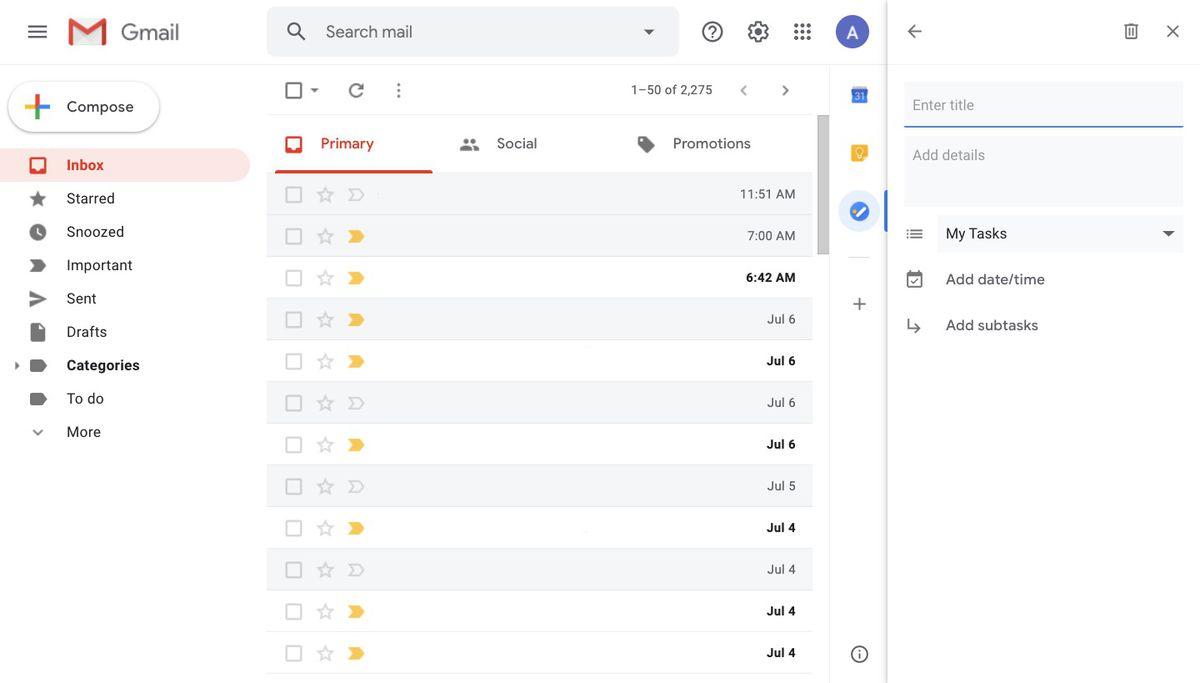 Task menu