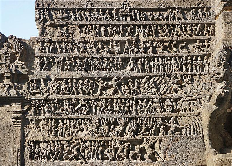 https://upload.wikimedia.org/wikipedia/commons/thumb/4/44/A_relief_summary_of_Ramayana_at_Hindu_temple_cave_16_Ellora_India.jpg/800px-A_relief_summary_of_Ramayana_at_Hindu_temple_cave_16_Ellora_India.jpg