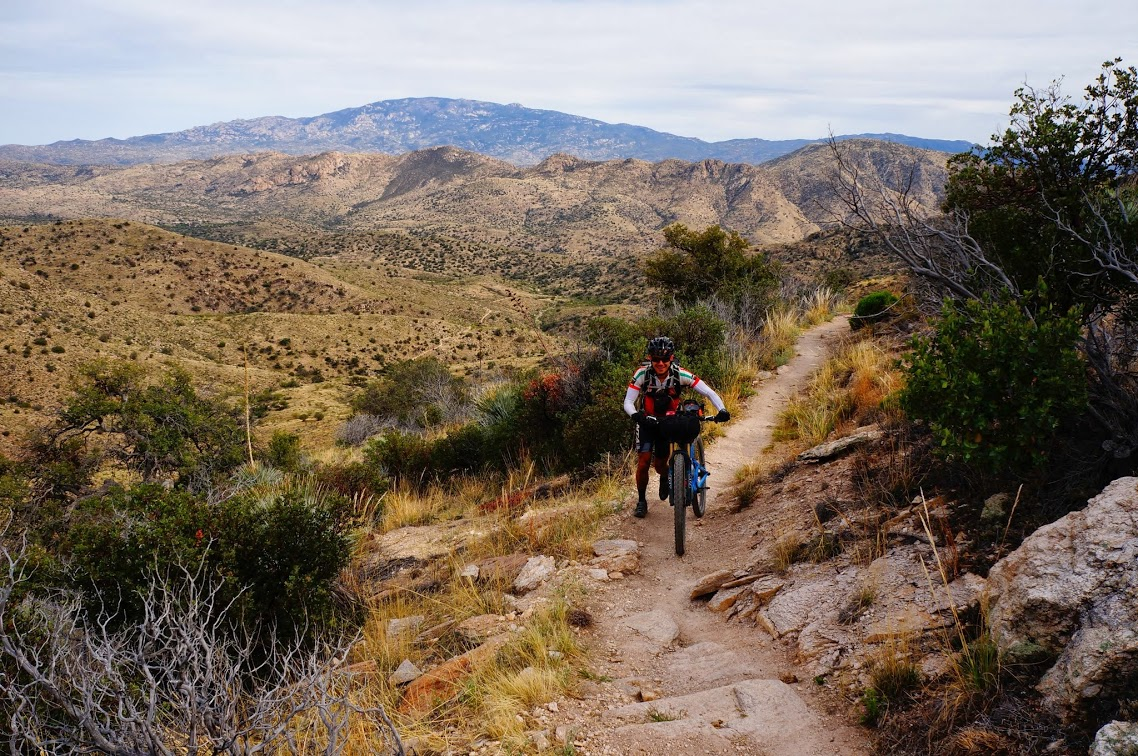 Near the top of the Molino hike-a-bike. Photo by Jesse Morse-Brady.