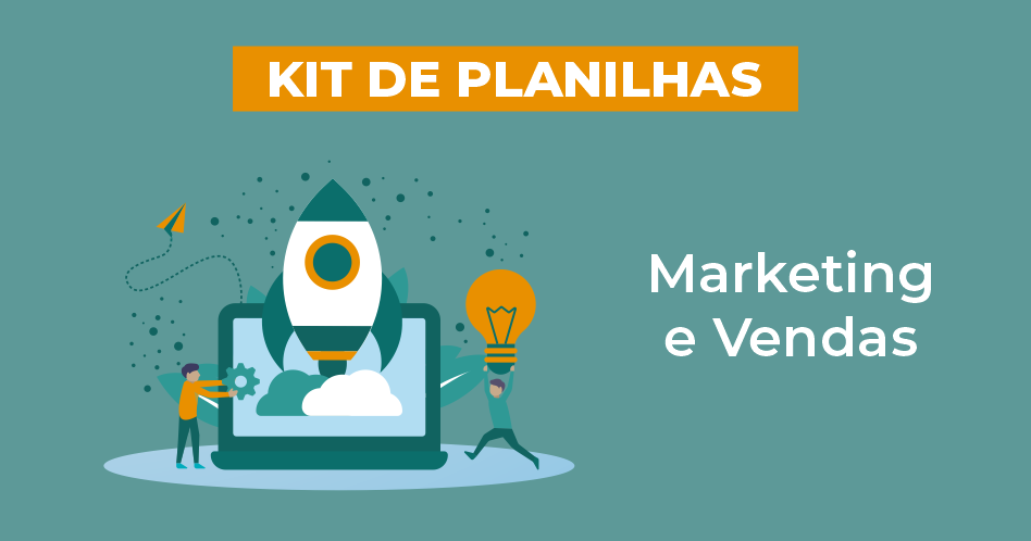 banner kit de planilha Marketing e vendas