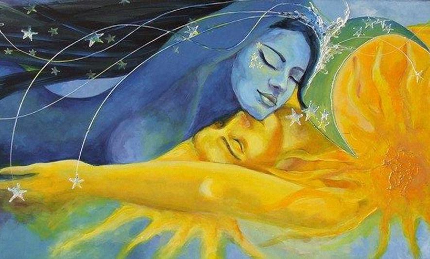 Місяць і сонце - символи золота і срібла