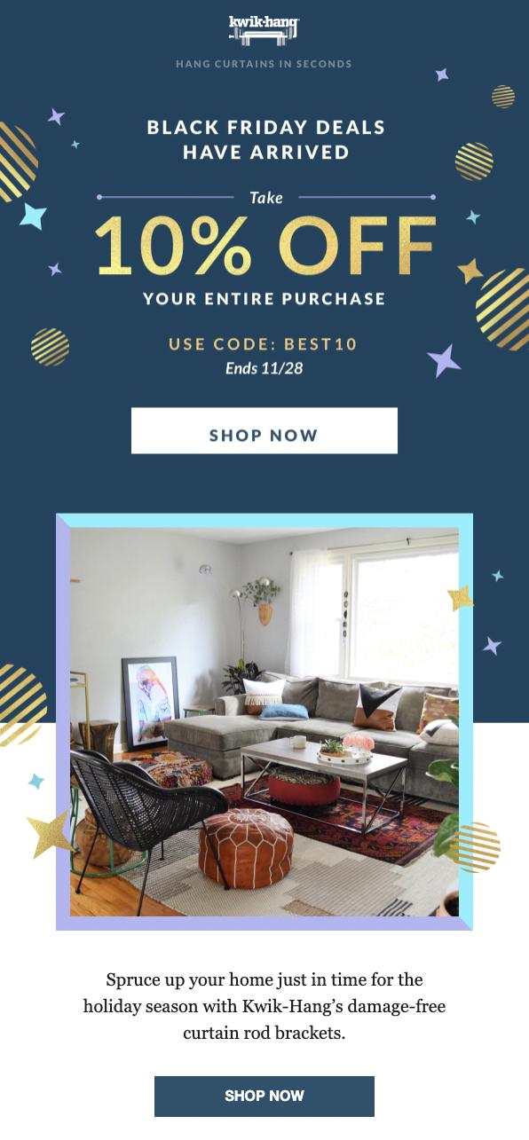 ecommerce seasonal email