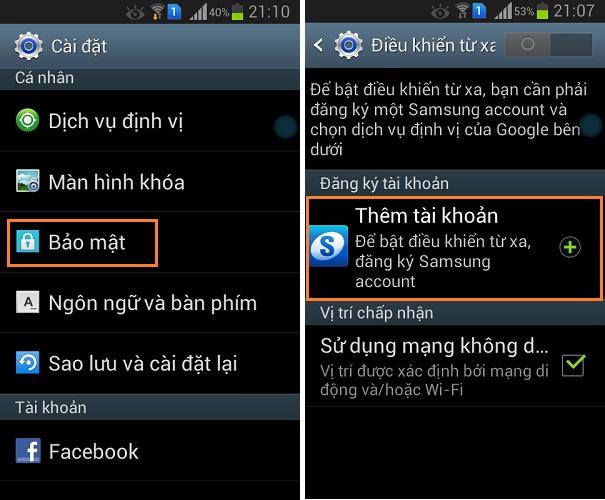 Hướng dẫn sử dụng tính năng Find My Mobile Samsung