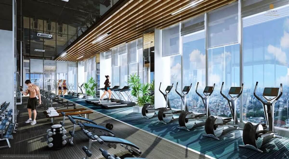 Phòng  tập gym tại The Matrix One