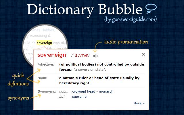 GoodWordGuide.com: Instant Dictionary chrome extension