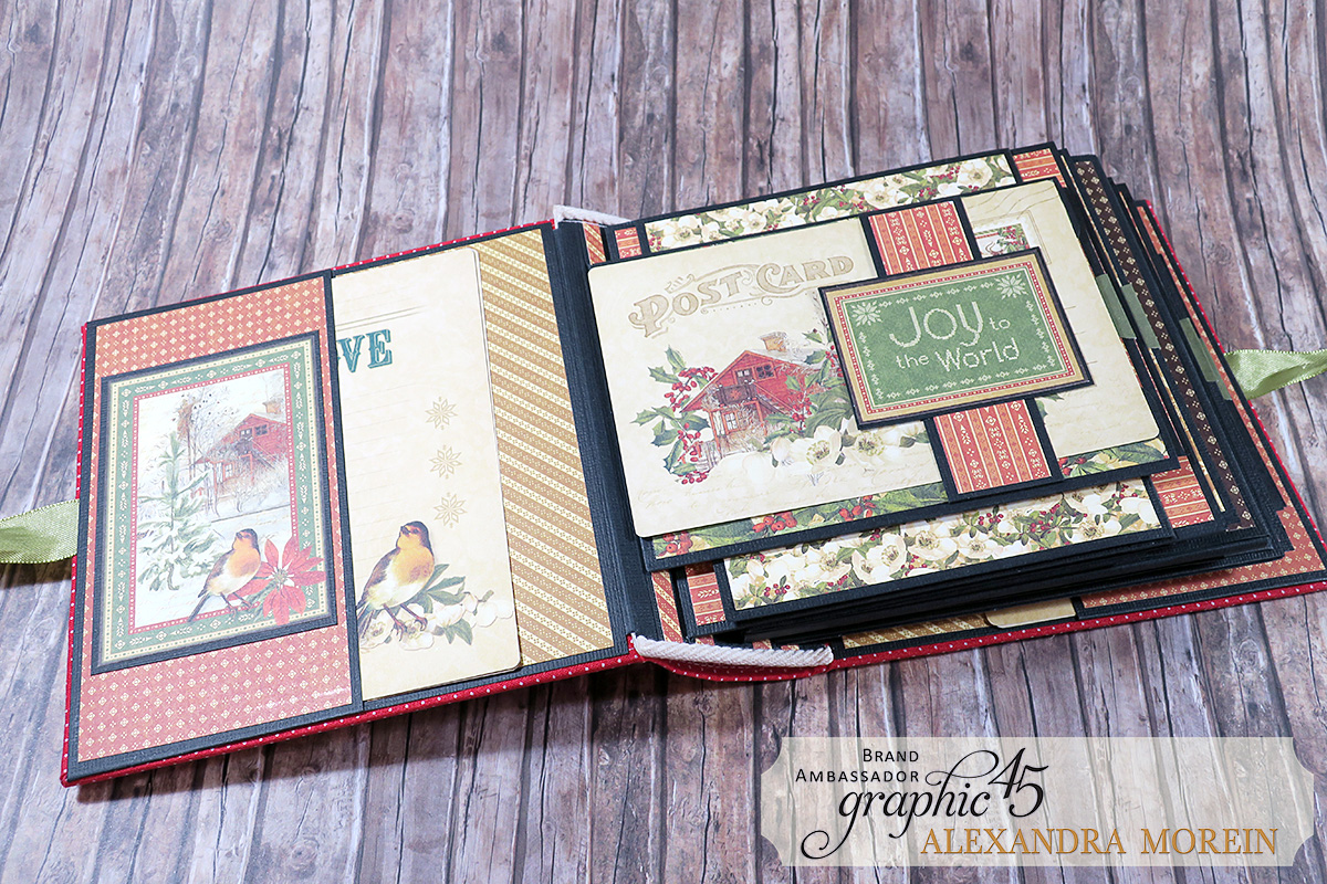 Winter Wonderland Mini Album, Project by Alexandra Morein, Product by Graphic 45, Photo 5.jpg