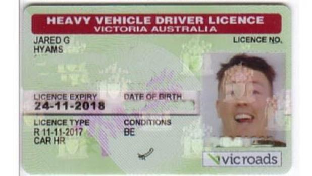 Licencia de conducir nueva VicRoads Jared Hyams '.