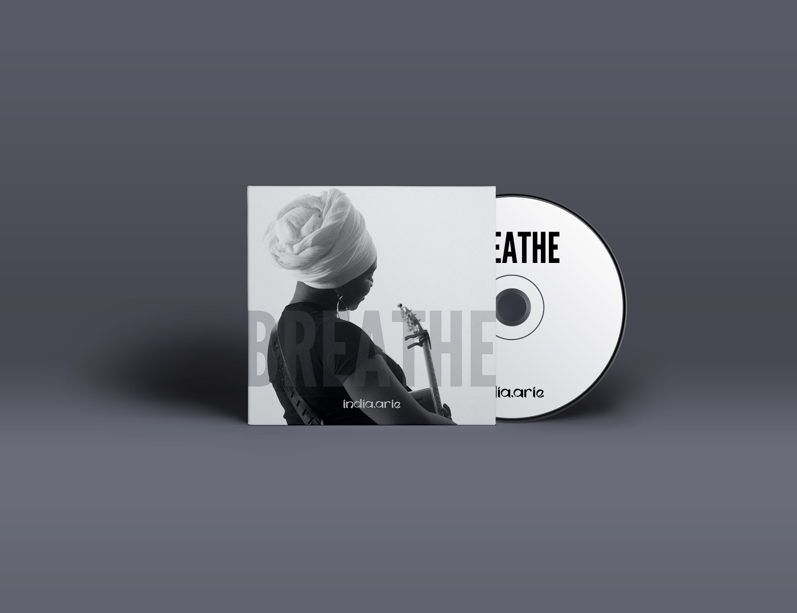 Cover artwork for India Arie's single Breathe, designed by Denise Francis.
