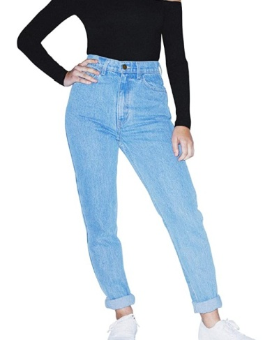 American Apparel's high-waist jeans for women