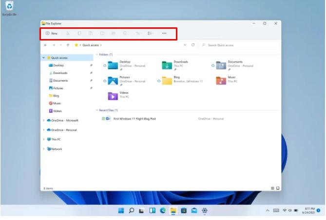 Improved File Explorer of Windows 11