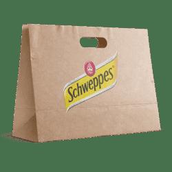 sac kraft personnalisé poignées découpées schweppes