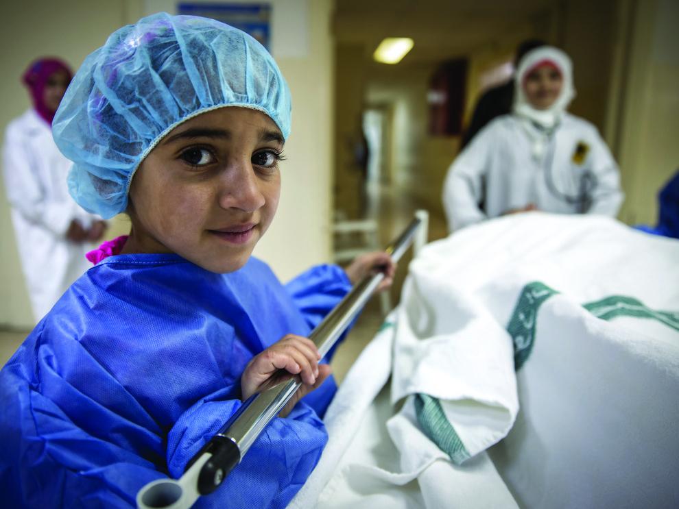 Hiba, 9, future pediatrician