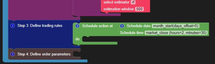 Add the Schedule Block