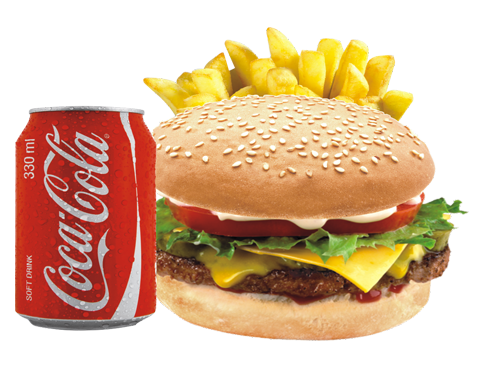 Image result for coke and burger