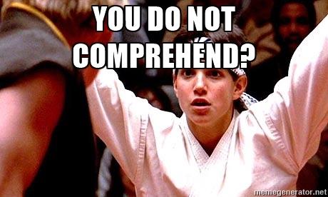 Karate Kid Crane Kick - you do not comprehend?