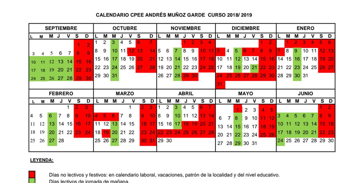 Calendario 2018 2019.Calendario 2018 19 Pdf Google Drive