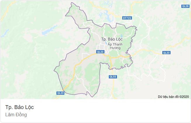 bản đồ TP Bảo Lộc - vay tiền góp bảo lộc