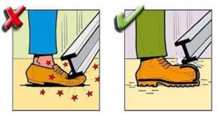 Công dụng của giày mũi lót thép