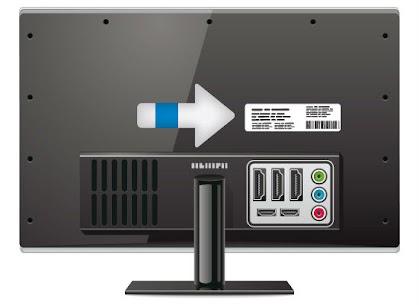 U vind het modelnummer aan de achterzijde van uw televisie.