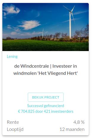 Project de windcentrale van Oneplanetcrowd