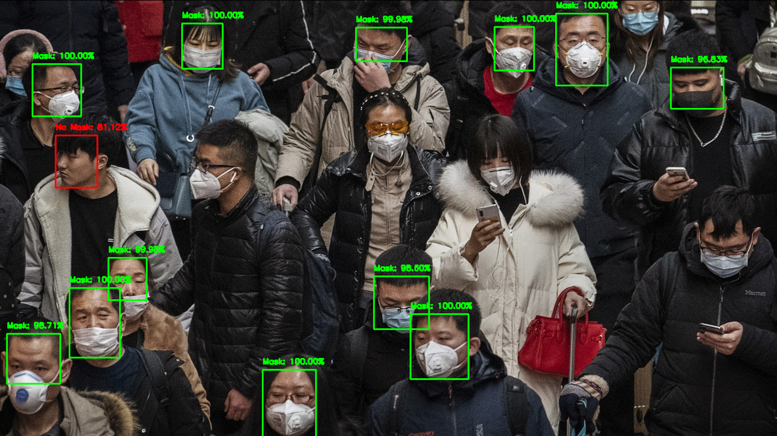 Face mask detection tool