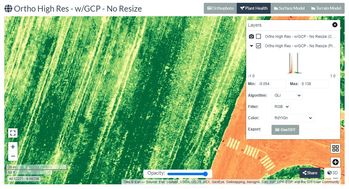 GLI in WebODM | Vegetation Management