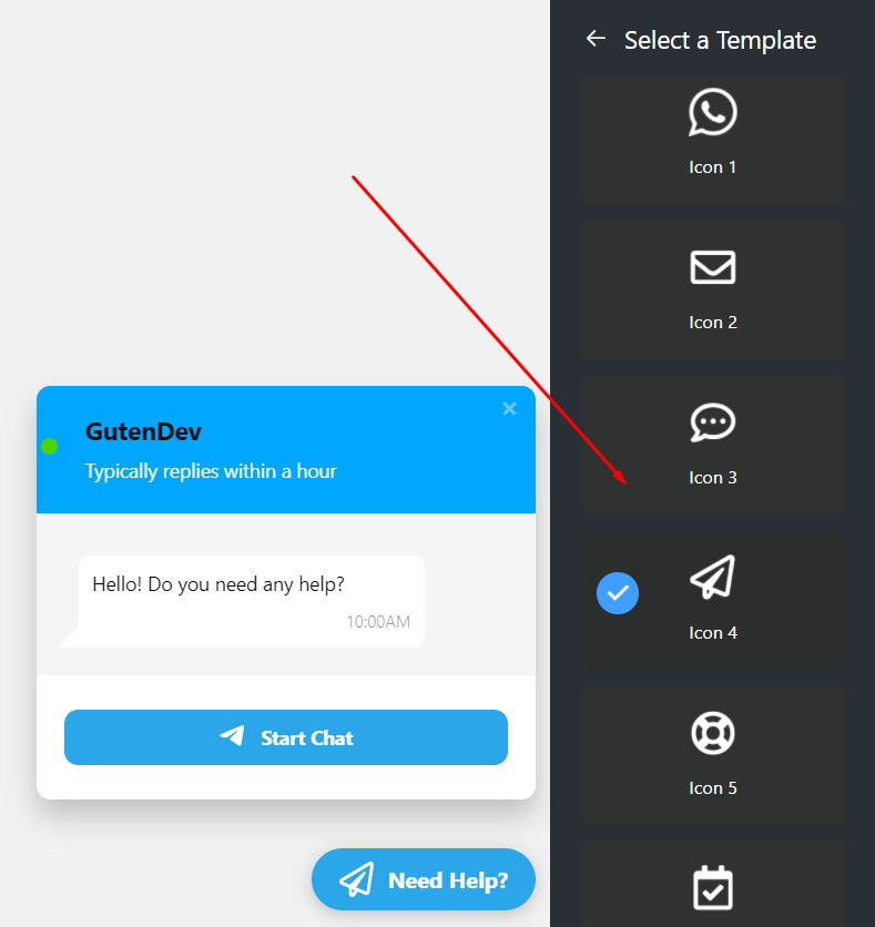 live chat bubble icon types