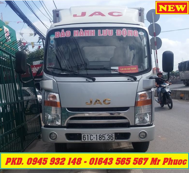 xe tải JAC 1.9 tấn đầu vuông ISUZU, xe tải JAC 1.99 tấn, xe JAC 1T99 thùng mui bạt, mua xe JAC 2 TẤN