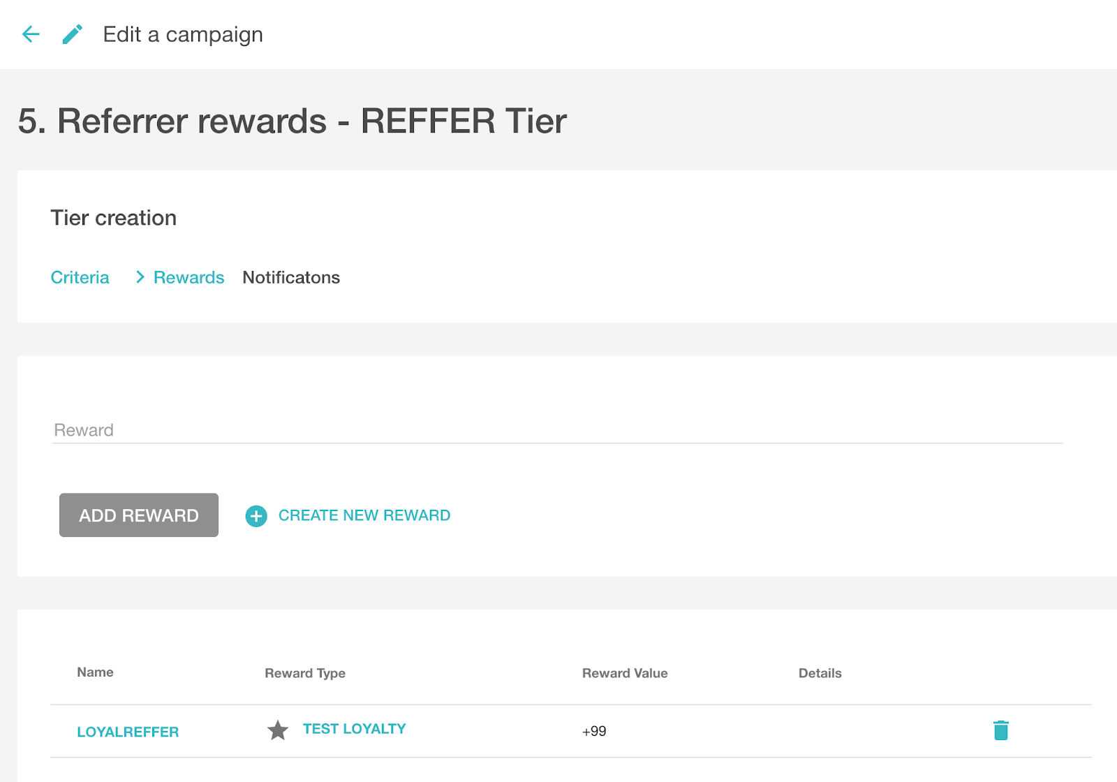Referrer reward