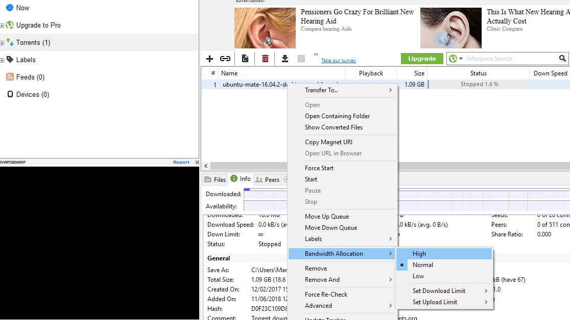 How to Speed Up uTorrent ,When utorrent not downloading?