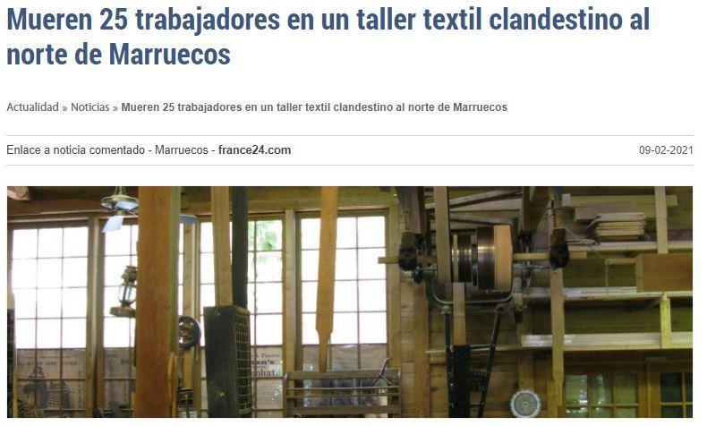 Accidente laboral en Marruecos