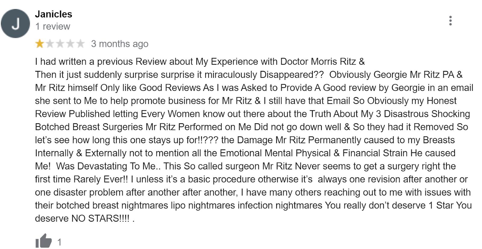 Dr. Morris Ritz review