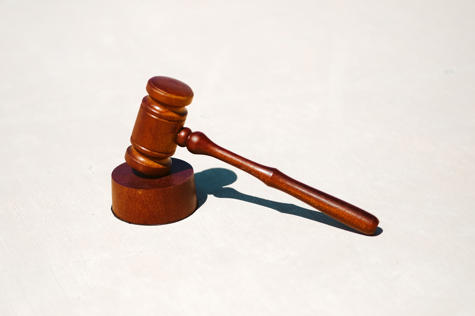 A judge's gavel used in the courtroom to determine legal cases.
