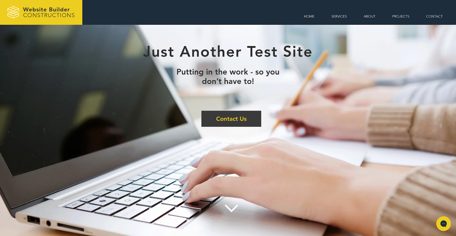 wix website builder test site