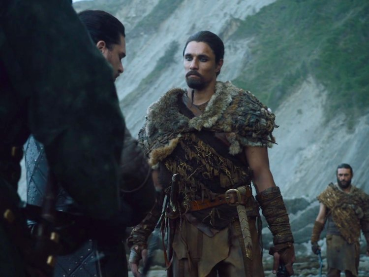 The Dothraki man overseeing Jon and Davos' arrival is the same one who first brought Daenerys to his khal as a captive.