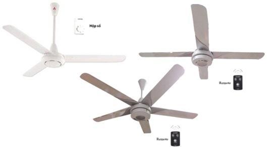 Ưu điểm và hạn chế của các loại quạt trần có số lượng cánh khác nhau
