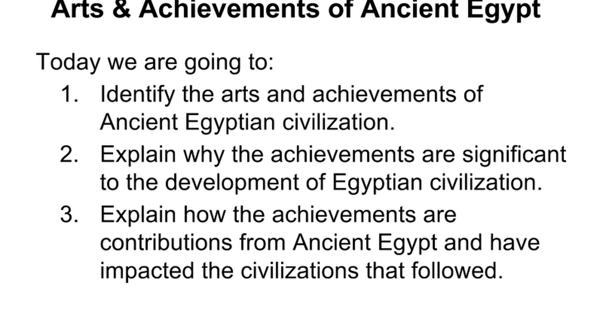 achievements continuity and innovation of egyptian civilizations