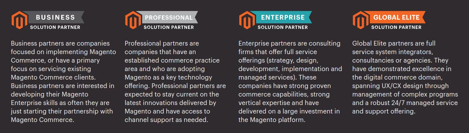 Magento Solution Partners. Credit image: Magento