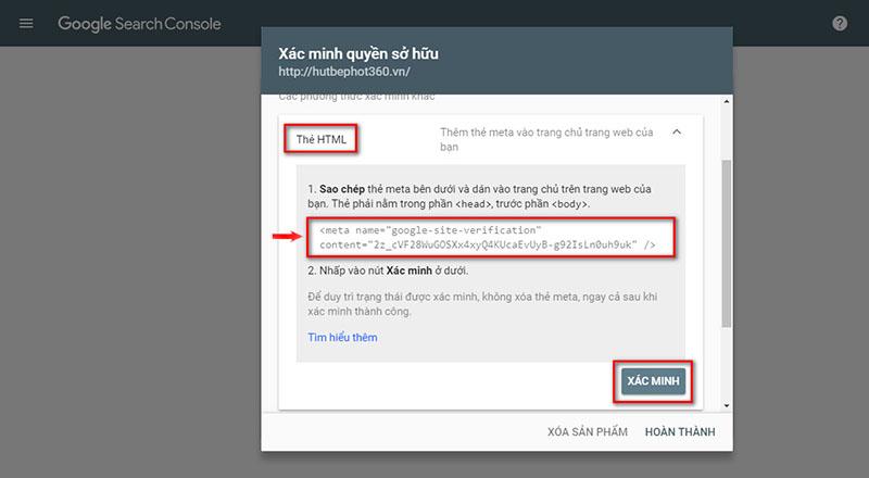 Hướng dẫn cài đặt Google Webmaster Tools-5