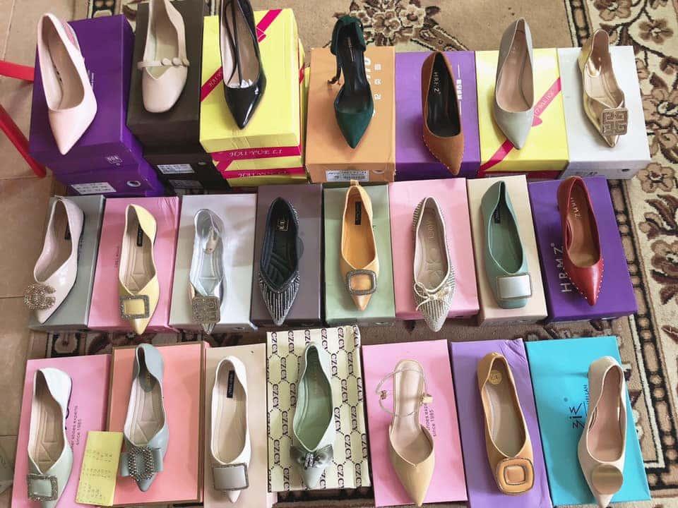 Giày dép của Thiên Hương luôn có sự  đa dạng