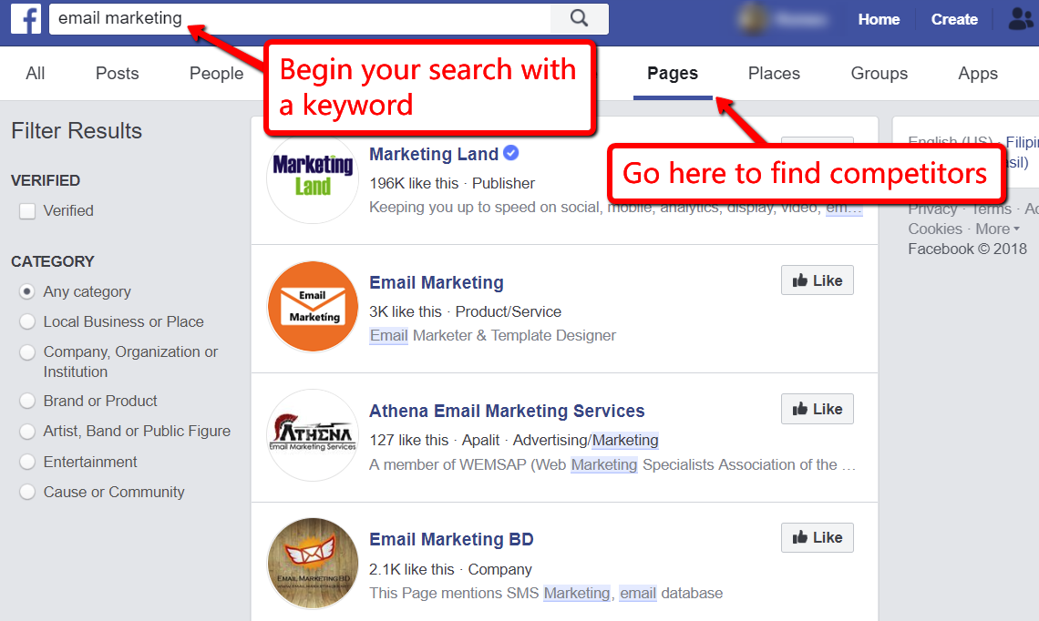 Do competitive research to do Facebook marketing right.