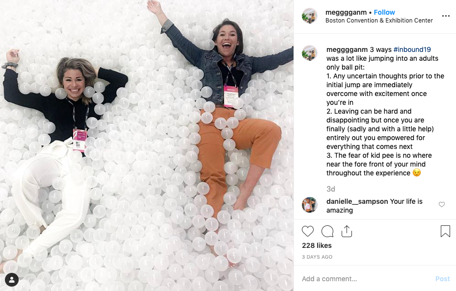 inbound 2019 instagram post